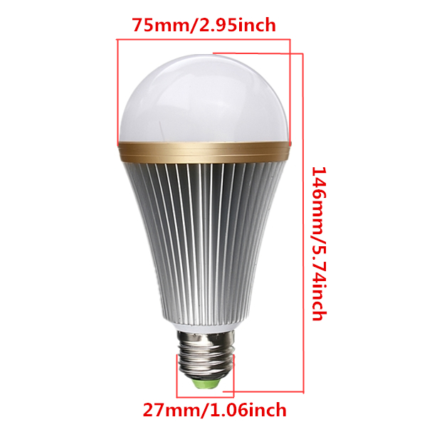 Dimmable E27 12W Warm/Pure White 12 LED Globe Light Bulb Lamp 110-240V