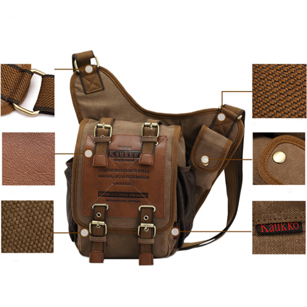 1e1cefc01fa2 Men Retro Canvas Travel Shoulder Bags Recreation Messenger Bag - US ...