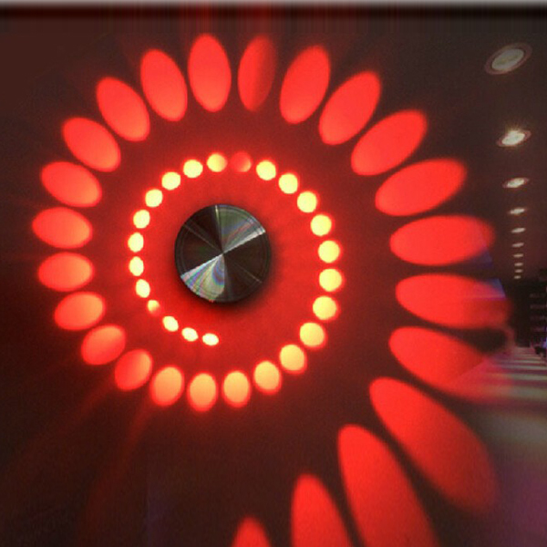 Modern High Power 3W LED Spiral Decoration Wall Lamp Sconce Spot