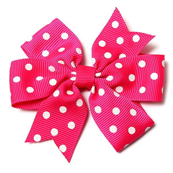 Pet Dog Cat V-shaped Polka Dot Little Rib Ribbon Bow Headband