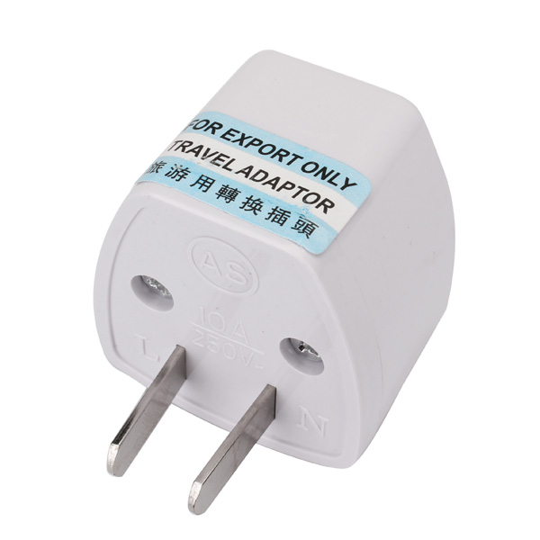 Australia Universal adapter AC 2 pin power plug travel