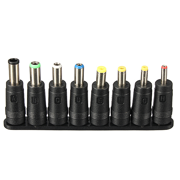 8pcs Universal AC DC Power Adapter Tip for Power Adapter Charge Tester
