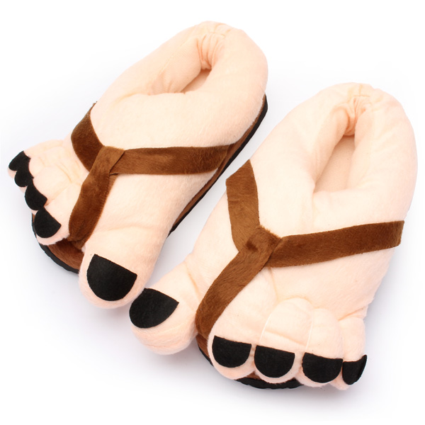 Women Novelty Big Toe Cotton Home Slippers Lovers Indoor Shoes