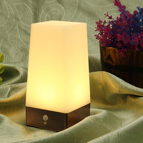 Wireless Retro Motion Sensor LED Night Light Battery Powered Lamp