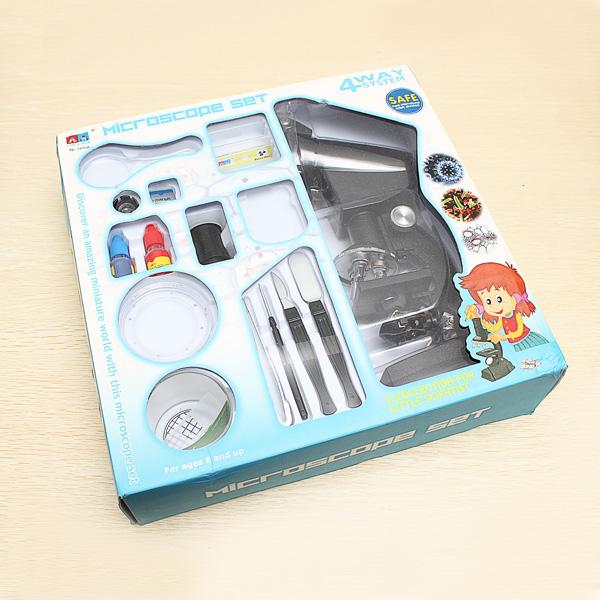 1200X Power Microscope Set Birthday Gift Kids Educational Toys