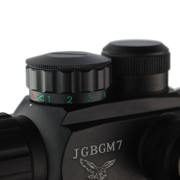 M7 4x30 Tactical Adjustable Red Rifle Scopes With Gun Mount