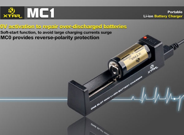 XTAR MC1 18650 14500 26650 Battery Micro USB Rapid Smart Battery Charger