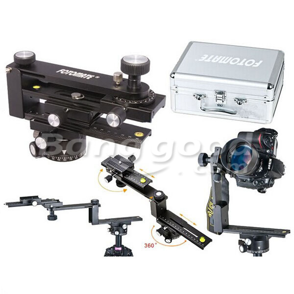 FOTOMATE Panoramic Kit Tripod Head Gimbal Bracket Plate Rail Slider