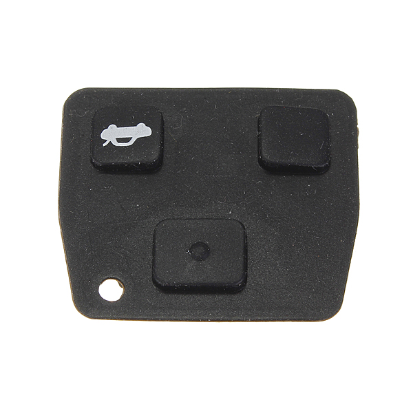 Replacement 2/3 Button Car Remote Key Black Rubber Pad For Toyota