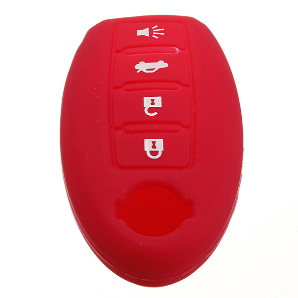 4 Buttons Remote Key Fob Case Silicone Cover For Nissan