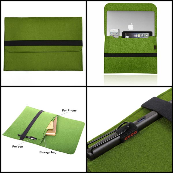 Woolen Felt Envelope Laptop Sleeve Bag Case Cover For MacBook Pro