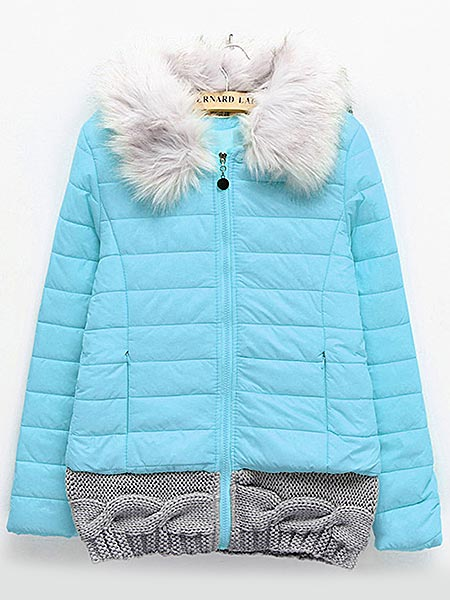 Women Winter Fur Collar Down Cotton Hooded Thick Jacket Coat
