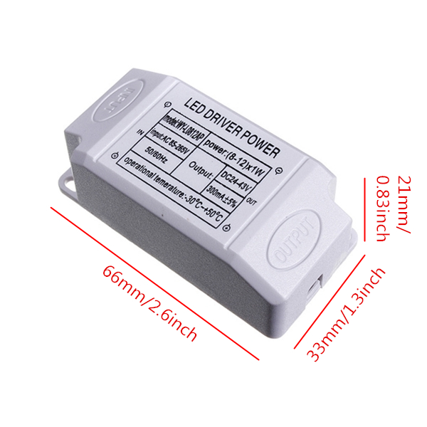 Home Light LED Power Supply Driver Electronic Transformer 12W