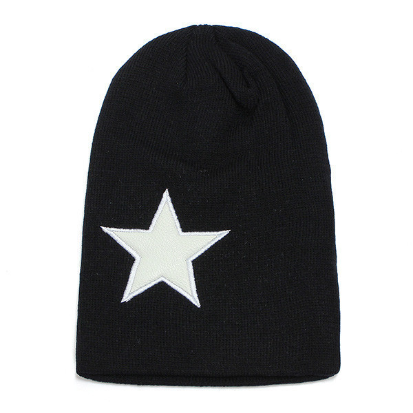 Men Women Warm Winter Star Hip Pop Caps Beanie Knitted Ski Hats