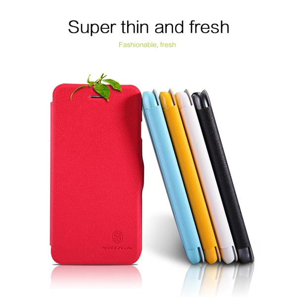 NILLKIN Fresh Series Flip Ultra Thin PU Leather Case For iPhone 6