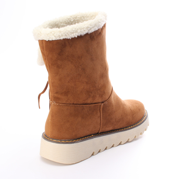 Ladies Winter Cotton Warm Bowknot Snow Boots
