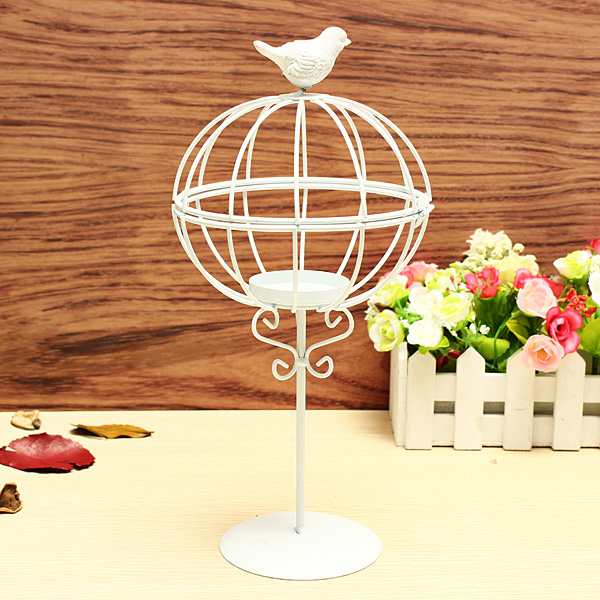 ZAKKA Lamp Wrought Iron Candle Stick Furnishing Articles