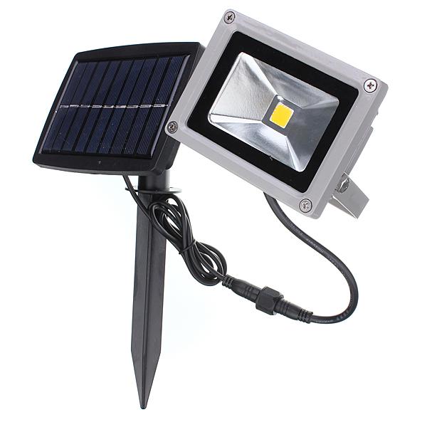 10W Solar Power LED Flood Light Waterproof Outdooors Landscape Spot Lightt
