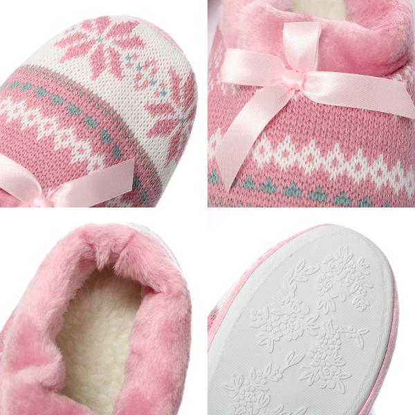 Women Soft Indoor Outdoor Slippers Shoes Cute Puppy Snowflake Heart