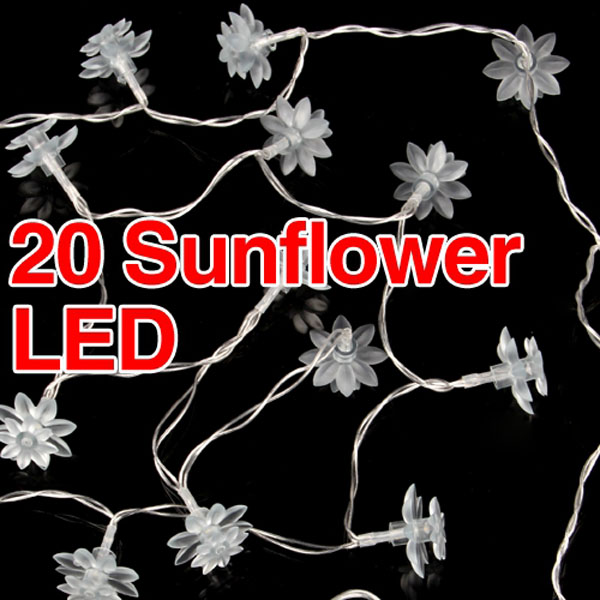 Classic Crystal Sunflower Holiday Decoration Fairy String Lights