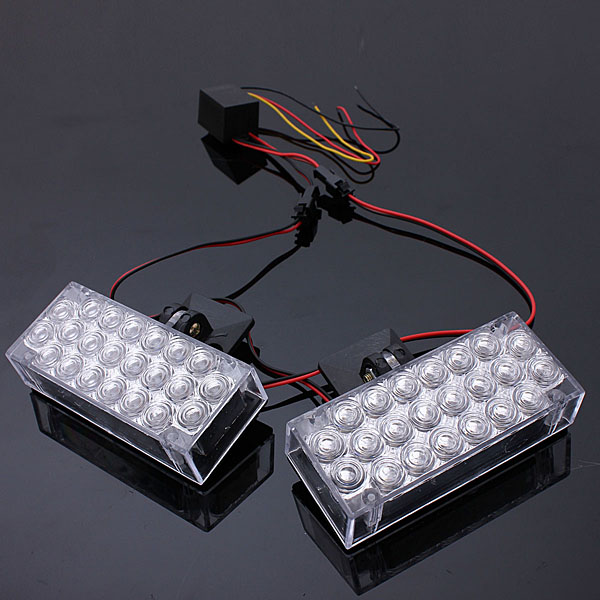 22 LED Daytime Running Light Flashing Emergency Warning Strobe lights