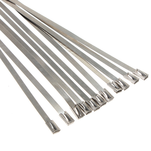 20pcs Stainless Steel Exhaust Insulating Fiber Glass Wrap Pipe Tie