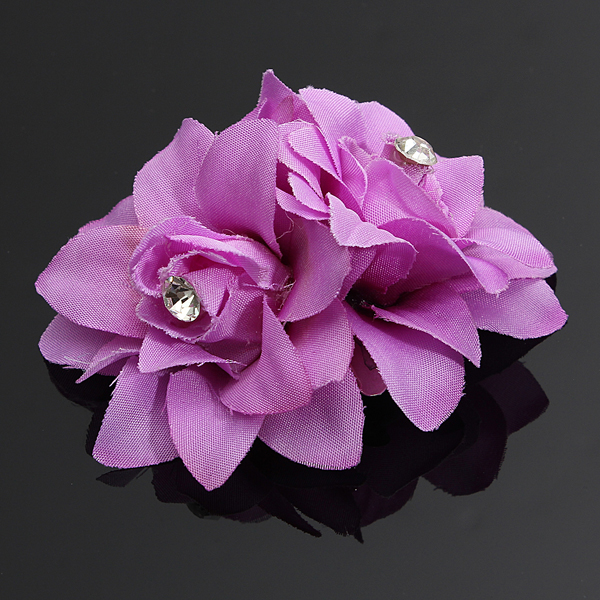 5 Color Diamond Simulation Flower Hairpin Bride Hair Accessories