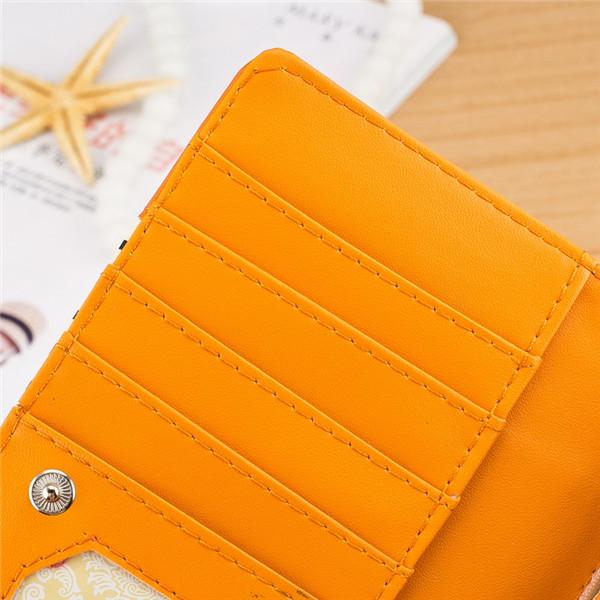 Women Leather Stripe Mustache Wallet Purse Long Clutch Card Holder Bag