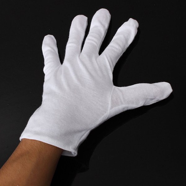 1Pair White Cotton Gloves Anti-static Protective Gloves for BGA Work
