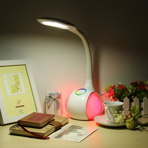LED Colorful Eye Protection Reading Table Lamp Adjustable Night Light
