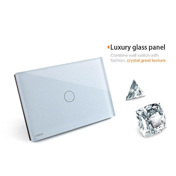 Livolo White Crystal Remote&Touch Screen Switch VL-C301R-81 AC110-250V