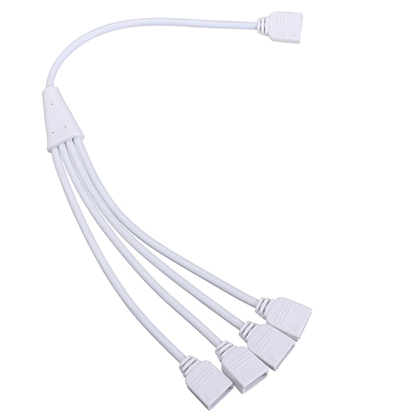 4 Pin 1 to 4 Flexible LED Connector Cable Splitter For RGB Strip Light