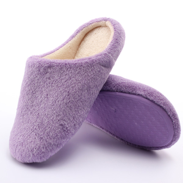 Women Men Winter Indoor Household Floor Slipper Warm Soft Shoes