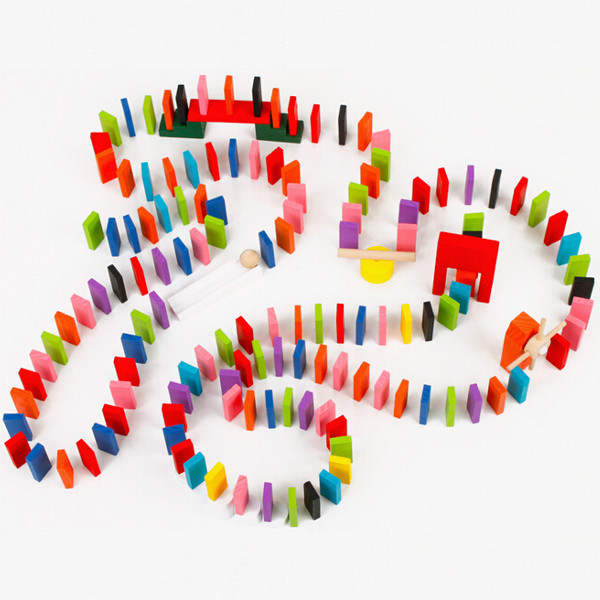 240PCS Authentic Standard Wooden Children Domino Craft Game Toys