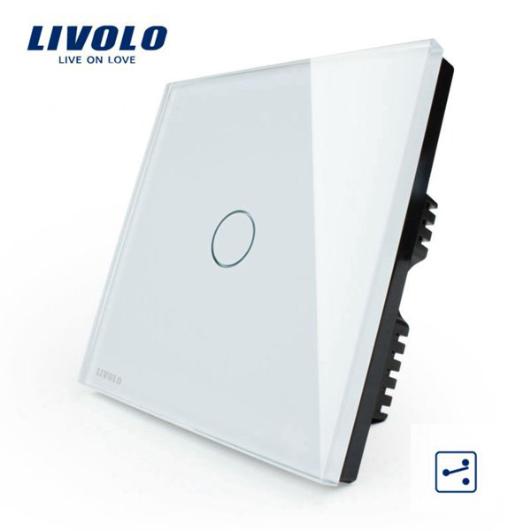 Livolo White Crystal Glass Intermediate Switch VL-C301S-61 AC110-250V