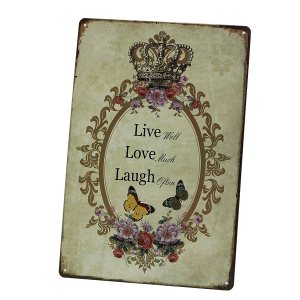 Love Family Tin Sign Vintage Metal Plaque Poster Bar Home Wall Decor