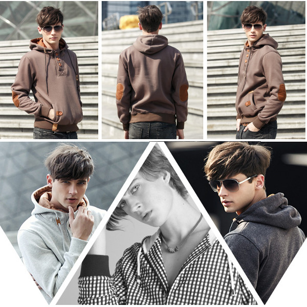 Winter Men Hoodies Cotton Hoodie Jacket Hip-hop Sportswear Hoodies