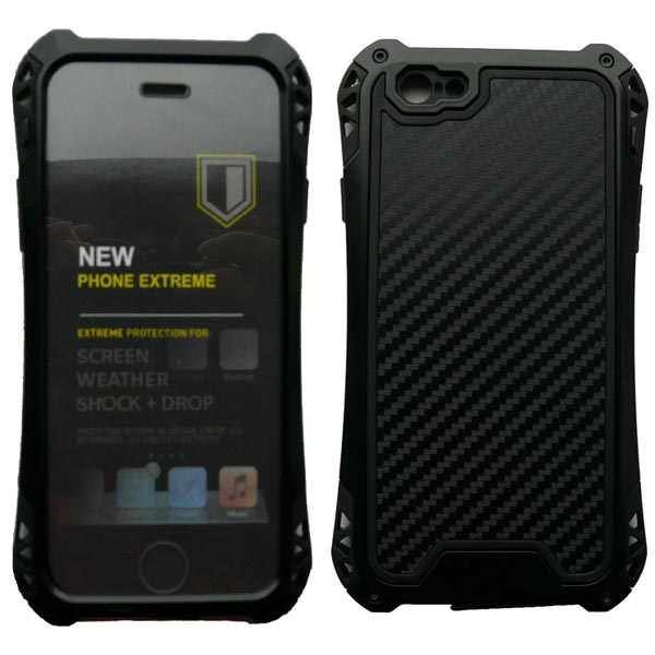 Waterproof Shockproof Carbon fiber Metal Case Cover For iPhone 6
