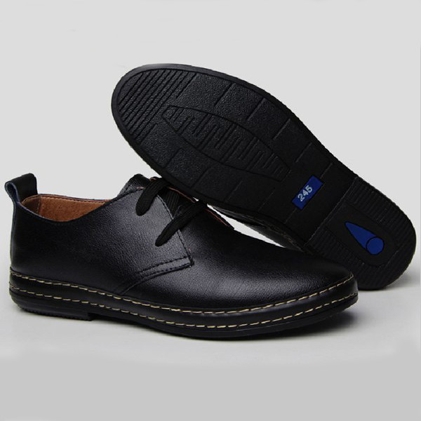Mens Fashion Flats Oxfords Casual Dress PU Leather Shoes