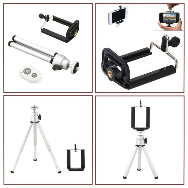 Tripod Monopod Holder bluetooth Remote Control Shutter For iPhone