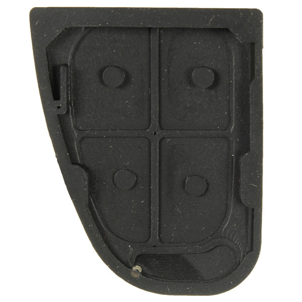 4Button Rubber Pad Remote Key Fob Replacement For Jaguar S X XJ XK