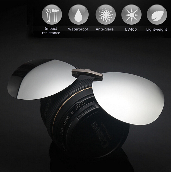 Polarized Clip On Sun Glassess Sun Glassess Driving Night Vision Lens