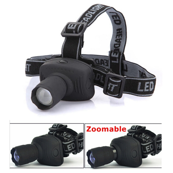 3W 6 Modes Zoomable LED Bike Bicycle Headlight Headlamp Flashlight