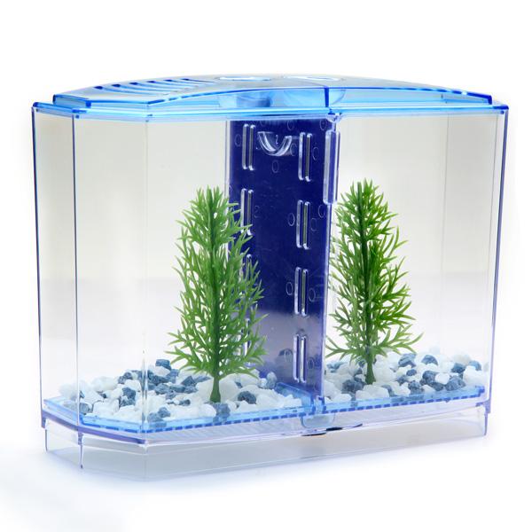 BBT3 Twin Betta Bow Front Tank Aquarium Kit