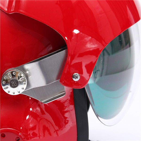 Motorcycle Scooter Open Face Helmet Air Force Jet Pilot Flight Double Lens