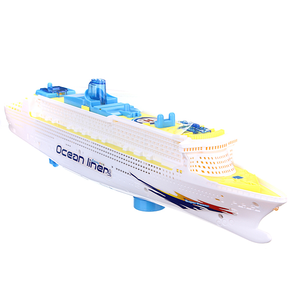 Ocean Liner Cruise Ship Boat Electric Toys Flash LED Lights Sounds Kids Christmas Gift