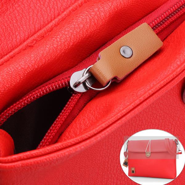 Candy Color Handbag PU Leather Women Messenger Shoulder Bag
