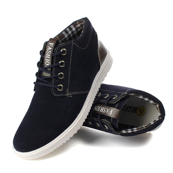 Mens Lace Up Flats Canvas Casual Sneakers Fashion Driving Shoes