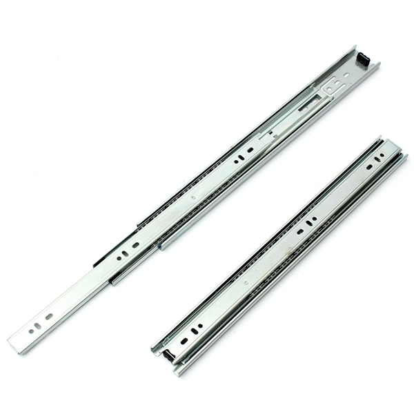 2pcs Full Extension Telescopic Drawer Slides Metal Ball Bearing Runner