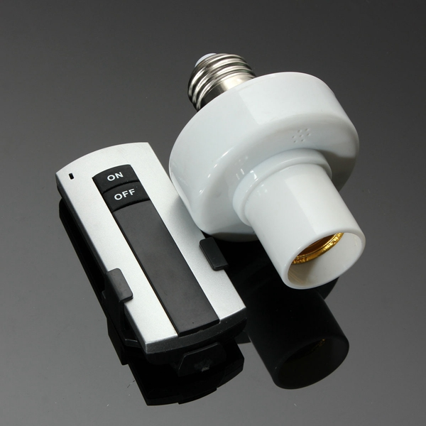E27 Screw Wireless Remote Control Light Lamp Bulb Holder Cap Socket